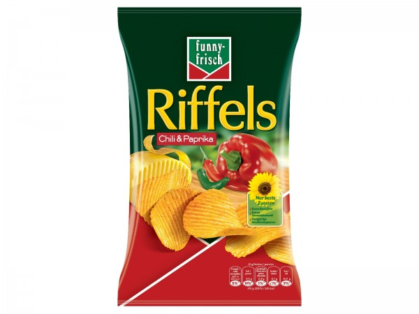 K5734 funny-frisch Riffels Chili & Paprika 150g
