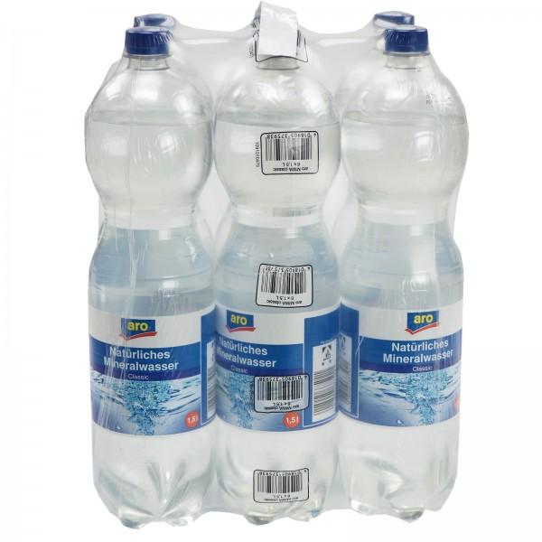 M4007 aro Mineralwasser 6 x 1,50l EW-PET