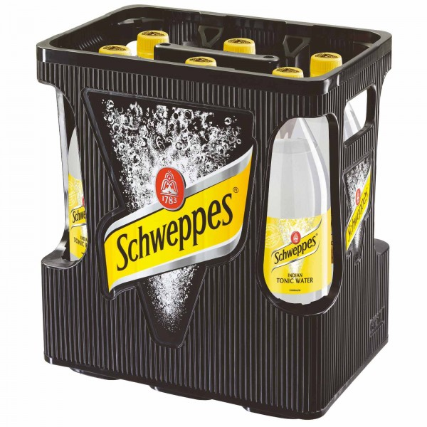 E32763 Schweppes Tonic Water 6 x 1,0l PET