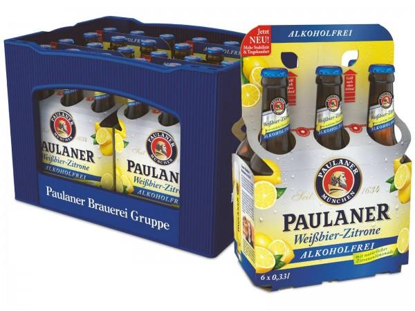 B1437 Paulaner  Alkoholfrei + Zitrone 4 x 6 x 0,33l