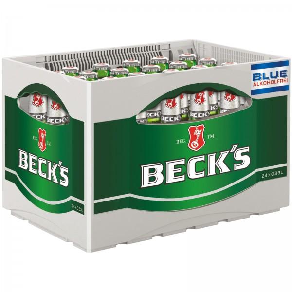 B1320 Beck's Bier Blue Alkoholfrei 24 x 0,33l