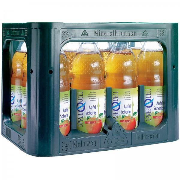 E3280 Spreequell Apfelschorle lieblich 12x1,0l PET