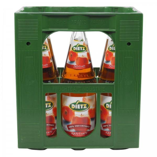 S2334 Dietz Apfelsaft Klar 6 x 1,0l