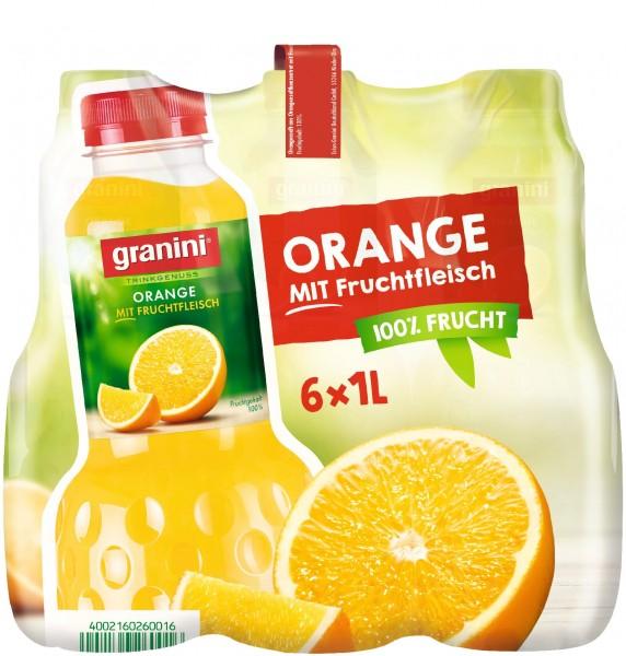 S2500 Granini Orange mit Fruchtfleisch 6 x 1,0l