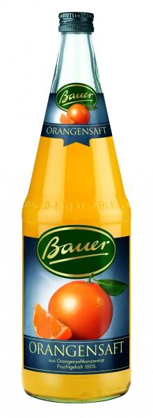 Flasche Bauer Orange 1,0l