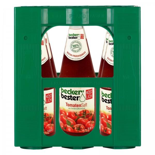S2285 Becker Tomatensaft 100% 6 x 1,0l