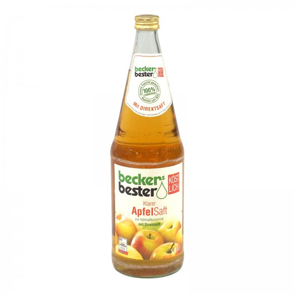 S0210 Flasche Becker Apfelsaft Klar 1,0l