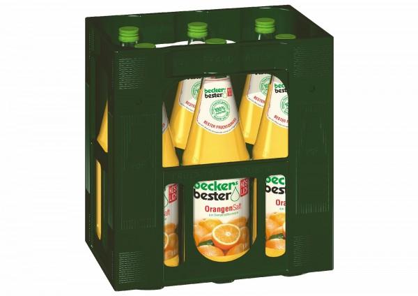 S2265 becker Orangensaft 6 x 1,0l