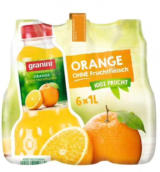 S2485 Granini Orange o. Fruchtfleisch 6 x 1,0l