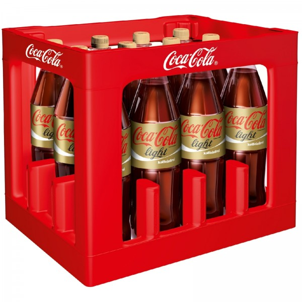 E3087 Coca Cola light koffeinfrei 12 x 1,0l