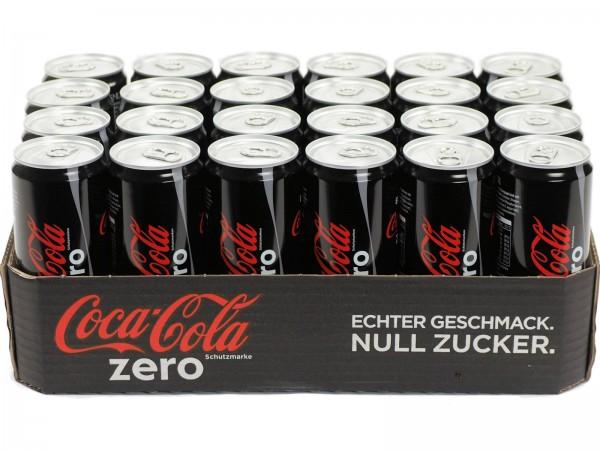 E3185 Coca Cola Zero 24 x 0,33l Dosen