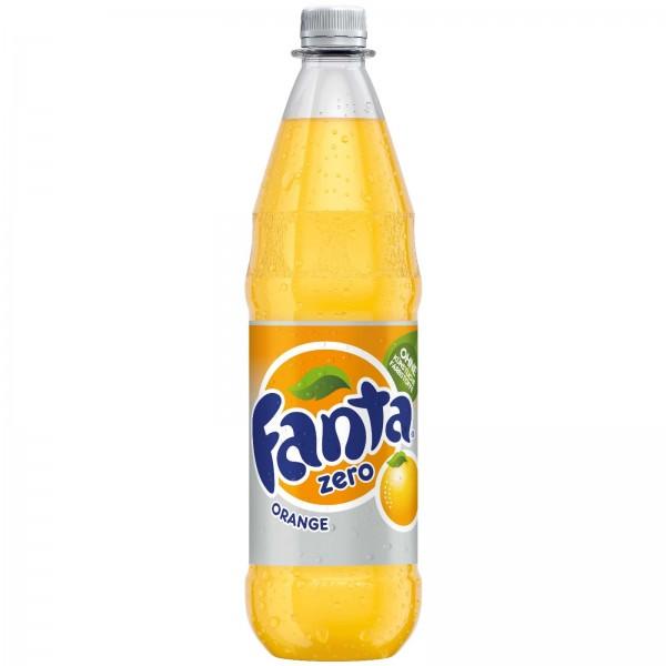 E0112 Flasche Fanta Orange Zero 1,0l
