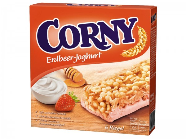 K6040 Corny Erdbeere-Joghurt  6 x 25g