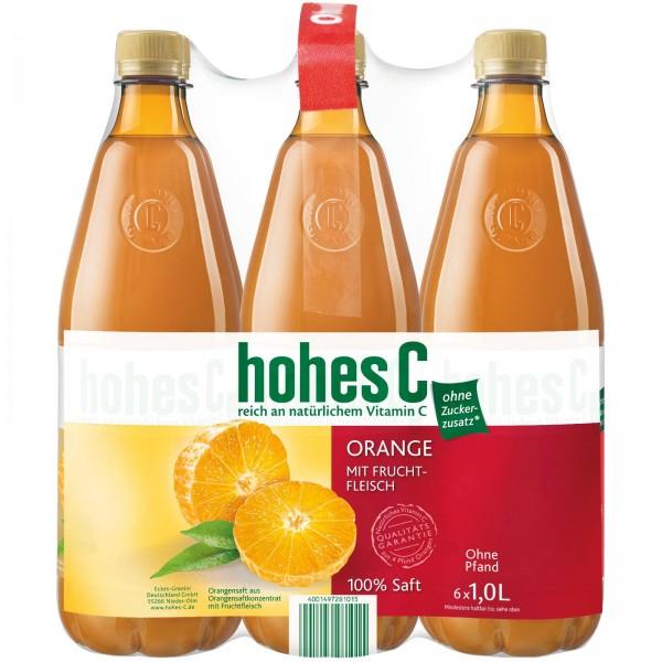 S2605 Hohes C Orange mit Fruchtfleisch 100% 6 x 1,0l PET