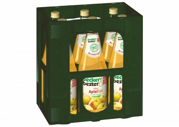 S2210 becker Apfelsaft Klar 6 x 1,0l