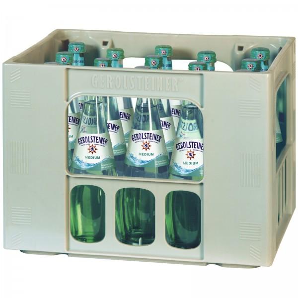 M4232 Gerolsteiner Medium 15 x 0,50l Glas