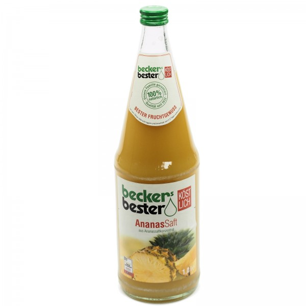 S0201 Flasche Becker Ananas 1,0l