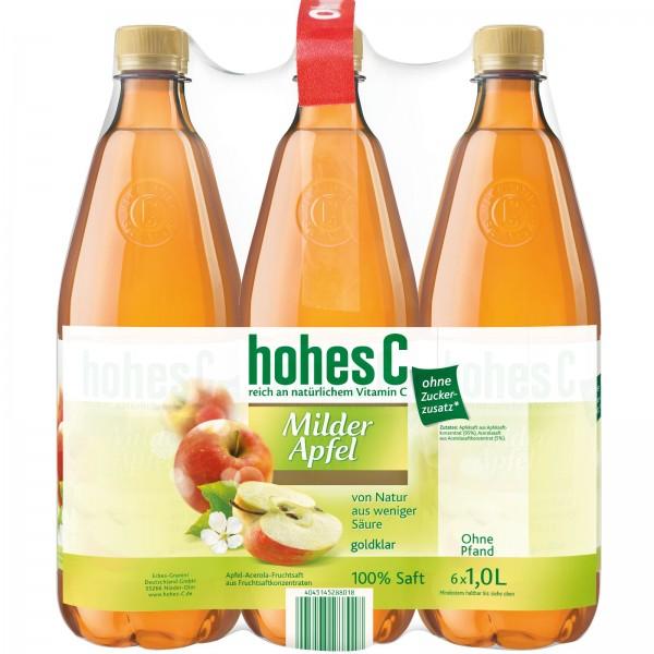 S2540 Hohes C  Apfel Mild 100% 6 x 1,0l PET