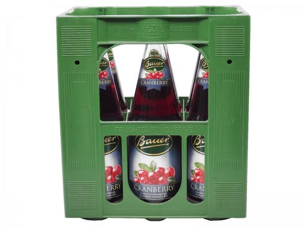 S2197 Bauer Cranberry 6 x 1,0l