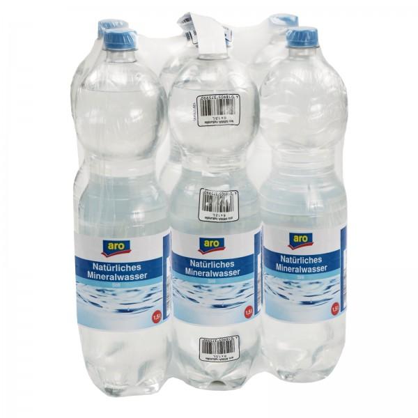 M4164 aro Mineralwasser Naturell 6 x 1,50l EW-PET