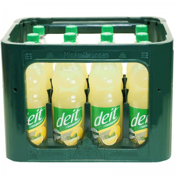E3100 Deit Zitrone trüb 12 x 1,0l PET