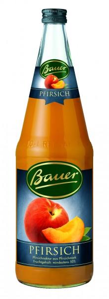 Flasche Bauer Pfirsichnektar 50% 1,0l