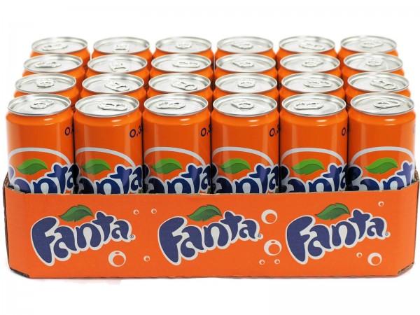 E3186 Fanta Orange 24 x 0,33l Dosen