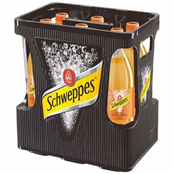 E3268 Schweppes Bitter Orange 6 x 1,0l PET