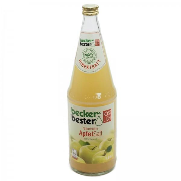 S0221 Flasche Becker Apfelsaft Trüb 1,0l