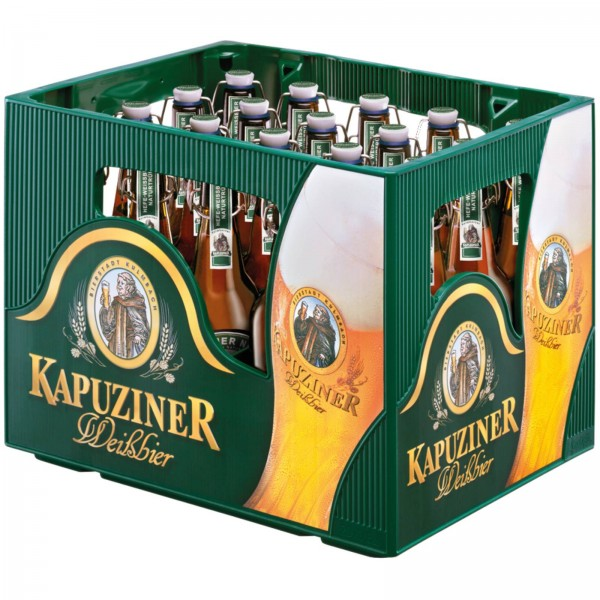 B1384 Kapuziner Weißbier Hefe Hell 20 x 0,50l